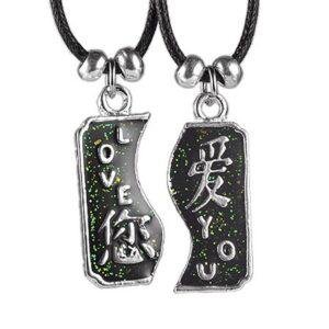 Dvojdielny náhrdelník LOVE YOU s čínskymi znakmi AB31.17