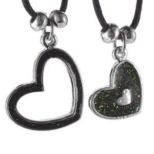 Dvojitý náhrdelník - srdiečka na šnúrkach AB31.18