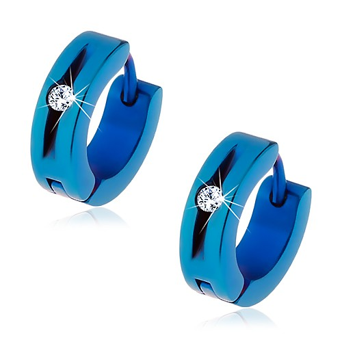 Modré náušnice z ocele 316L