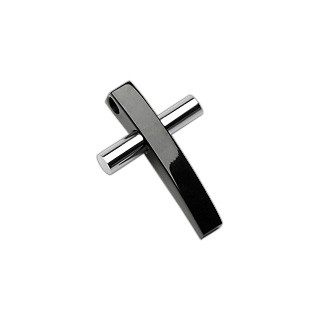 Oceľový prívesok dvojfarebný kríž G11.19