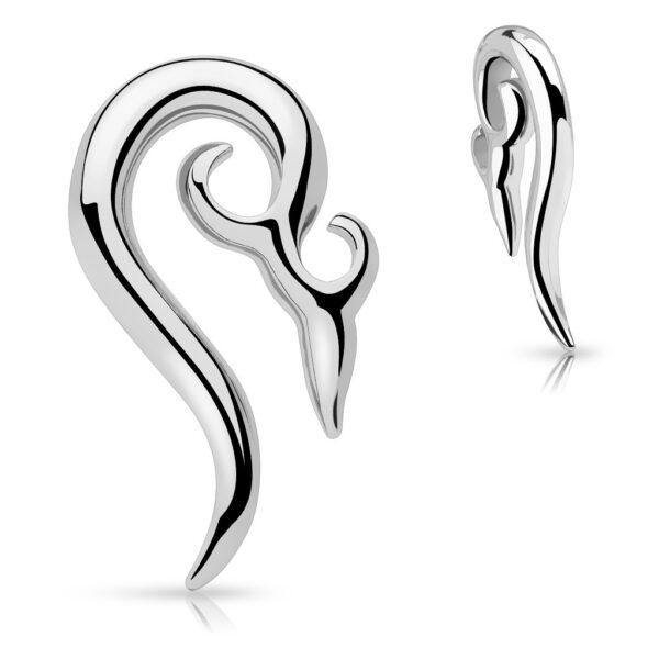 Piercing do ucha z chirurgickej ocele - ornamentálna špirála C4.6 - Hrúbka piercingu: 8 mm