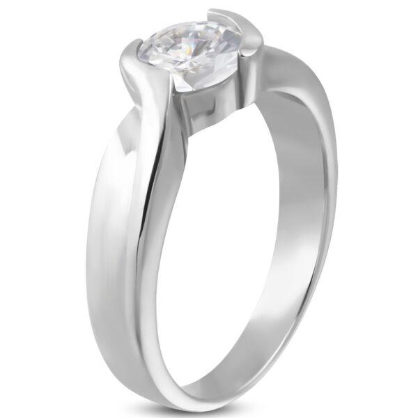 Zásnubný prsteň prepletaný s očkom zo zirkónu D18.3 - Veľkosť: 59 mm